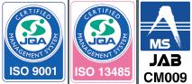 ISO 9001:2015 認証取得 ISO 13485:2016 認証取得